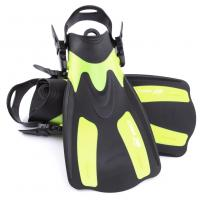 Buy cheap Yellow Short Swim Fins For Snorkeling With Detachable Strap , Ergonomic Design from wholesalers