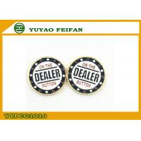 Buy cheap Classical Metal poker chips White Background Golden In Back Side from wholesalers