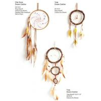 China Fashion Wind Chimes Indian Style Feather Leather Gold Dream Catcher for Home Decor Hanging Decoration Nice Gift on sale