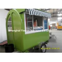 Buy cheap Dark Green Food Truck Trailers Fast / Food Trailer Caravan for BBQ from wholesalers