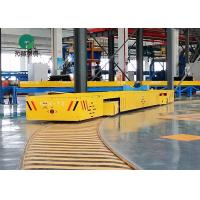 Buy cheap 7 Ton Machinery Plant Workpiece Handling S Type Rail Turning Electric Transfer Trolleys from wholesalers