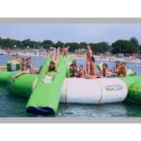 Buy cheap Outdoor Inflatable Water Jump Bed Combination , Inflatable Water Trampoline With Slide from wholesalers