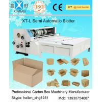 Buy cheap Chain Feeding Semi Automatic Die Cutting Machine , Carton Sheet With Pressure Plate from wholesalers