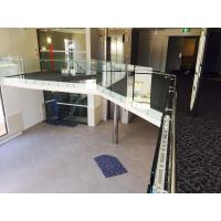 Buy cheap Modern design glass railing with stainless steel standoff  for veranda product