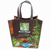 Buy cheap Promotional Recycled RPET Woven Shopping Bag with Glossy or Matte Lamination product