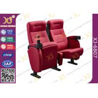 Buy cheap Full Fabric Covered Cinema Theater Chairs For Home Theater With Cupholder from wholesalers