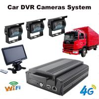 Buy cheap 4Ch Hard Drive Car Dvr Recorder System With 3G / 4G / GPS / WIFI / G-Sensor product