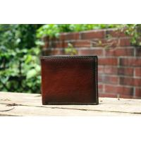 Buy cheap European and American style cowhide billfold wallets for men from wholesalers
