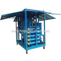 Buy cheap Mobile Weather-Proof Enclosed Cabinet Vacuum Dielectric Oil Filtration Plant from wholesalers