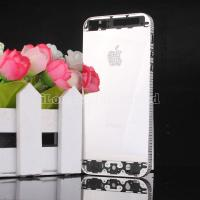 Buy cheap Mirror silvery Diamond back cover with diamond Logo for iphone 5 from wholesalers