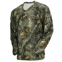 Buy cheap Wicking Long Sleeve Camo Fishing T-Shirt, 100% Poly Knit Grid Hunting Camo Clothing from wholesalers