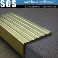 Buy cheap Safety Curved brass Tile Edging Copper Anti-slip Stair Nosings from wholesalers