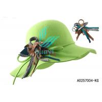 Buy cheap green fancy ladies church hats for sale from wholesalers
