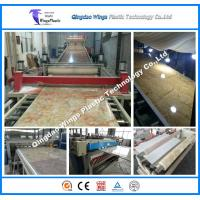 Buy cheap PVC Marble Panels Twin Extruder Machine For Building Decoration from wholesalers