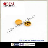 Buy cheap Brass rivet 7.5MM&9MM spraying golden yellow round and flat fashion metal button from wholesalers