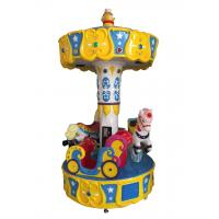 Buy cheap Children's Park Outdoor Indoor Amusement Equipment Ride Horse Mini Carousel 3players merry go round for sale from wholesalers