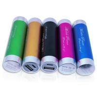 Buy cheap 2200mah Smart Portable USB Phone Charger , Colorful Lipstick Power Bank from wholesalers