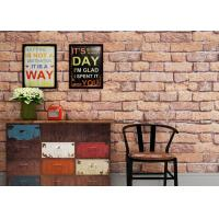 Buy cheap White and Red Brick Wallpaper for Walls , Vivid 3D Brick Embossed Wallpaper from wholesalers