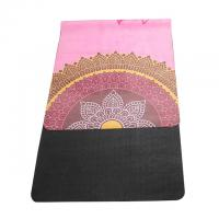 Buy cheap Washable 72''X 26'' Rubber Yoga Mat Microfiber Suede Surface SGS Certified from wholesalers