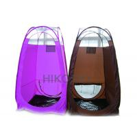 Buy cheap Black PE Waterproof Pop Up Spray Tanning Tent with Leak Proof Stain Resistant Floor OEM from wholesalers