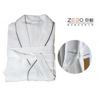 Buy cheap Luxury Hotel Robes Waffle Weave With Stripe Excellent Water Absorption from wholesalers