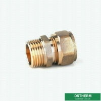 Buy cheap Brass Color Male Threaded Coupling Pex Fittings Customized Designs And Weight from wholesalers