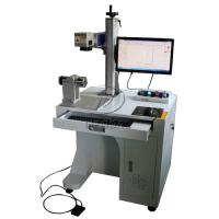 Buy cheap Stainless Steel Cylinder Fiber Laser Marking Machine with Rotary Axis AC110V from wholesalers