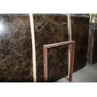Buy cheap Spain Emperador Dark Marble Slab , Marble Paving Slabs With Random Edges from wholesalers