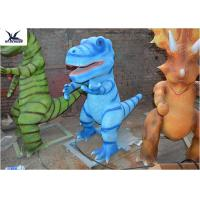 Buy cheap Colorful Decorative Dinosaur Small Garden Sculptures Silica Gel By Handmade from wholesalers