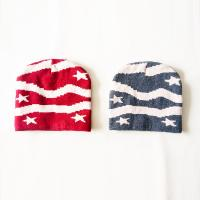 Buy cheap Hot-selling Custom design star striped pattern warm knitted beanie hats cap for kids from wholesalers