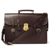Buy cheap Stiff Cowhide Leather For Mens Leather Briefcase Bag , Metal Lock Closure from wholesalers