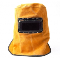 Buy cheap Heat Resistant Breathable Welding Helmet Protection Mask With Lens Leather Mask from wholesalers