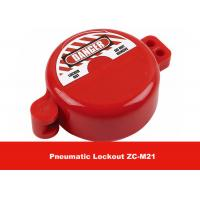Buy cheap 32MM Valve Stem Hole ABS Material Red Safety Cylinder Tank Pneumatic Lockout from wholesalers