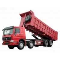 Buy cheap 371hp Howo 8x4 tipper truck / dumper truck HW76 cab with one berth 7m length from wholesalers
