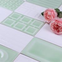 Buy cheap Light Green Coloured Kitchen Wall Tiles 120x180mm Colorful Mosaic Tile product