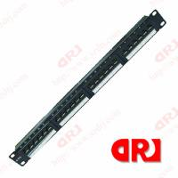 Buy cheap 1U CAT6 24 port UTP rj45 patch panel with Keystone Jack 3 u Gold Plating from wholesalers
