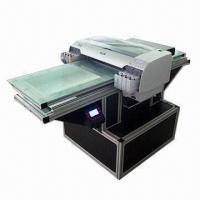 Buy cheap Flat-bed printer, can print picture on wood, glass, crystal, ceramic and acrylic product