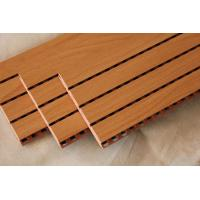 Buy cheap Studio Room Wooden Grooved Acoustic Panel MDF Board Fireproof Melamine Surface product