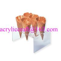 Buy cheap 6 holes acrylic waffle cone tray, transparent acrylic ice cream cone holder from wholesalers
