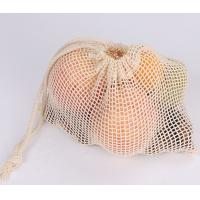 Buy cheap Cream White Cotton Mesh Reusable Mesh Produce Bags With Multi Size Choice from wholesalers