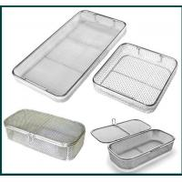 Buy cheap Medical Grade Stainless Steel Mesh Tray With Drop Handles For Washing Or Sterilization from wholesalers
