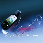 Buy cheap Customized acrylic single wine bottle holder / PMMA wine bottle racks from wholesalers