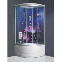 Buy cheap Glass back panel rain shower steam shower cubicle portable massage shower room from wholesalers