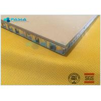 Buy cheap Sandstone Aluminium Honeycomb Panel With Edge Sealed Thickness 20mm - 30mm from wholesalers