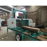 Buy cheap Gas engine powered Portable horizontal band sawmill for cutting tree trunk used from wholesalers