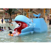 Quality Outdoor Water Park Whales Cartoon Shape Kids Pool Water Slides, SGS for sale