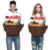 Buy cheap 80%  polyester  Food Thin 3d Sweatshirts woman/man clothes Hoodies sweatshirts any color from wholesalers