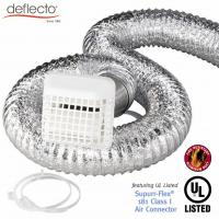 Buy cheap Outdoor Flexible Air Vent Kit  4'' 25 Ft Plastic Vent Cap With Grid from wholesalers