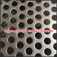 Buy cheap Aluminum 3003-H14 Round Hole Perforated Metal 0.032 gauge from wholesalers