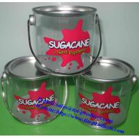 Buy cheap PET/PVC Bucket with Metal Handle for Candy with food Grade can touch directly from wholesalers